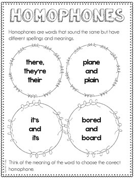 Homophones and Homographs Resources {Common Core