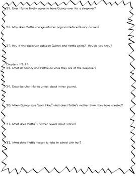 Hound Dog True (Linda Urban) Comprehension Questions by