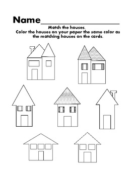 House matching color and visual discrimination activity by