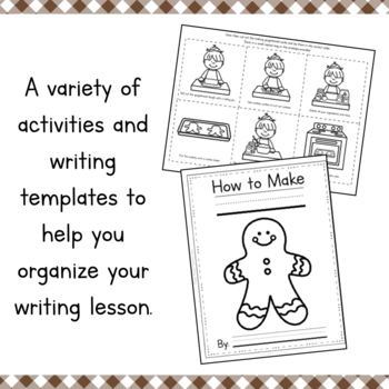 How To Make Gingerbread Writing and Sequencing Activity by