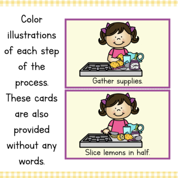 How To Make Lemonade Writing and Sequencing Activity by