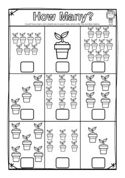 How many? Numbers to 10 (Ten) Count and Write Worksheets