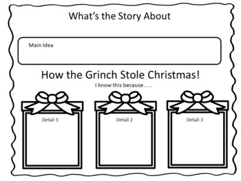 How the Grinch Stole Christmas ~ 38 pgs of Common Core