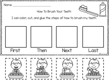 How to Brush your Teeth Writing Activities by My Day in K