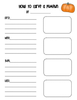 How to Carve a Pumpkin Writing Sheet by Creative Classroom