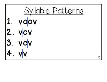 How to Decode: Syllable Patterns, Syllable Types, and