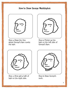 George Washington Drawing Easy : george, washington, drawing, George, Washington, Drawing, Tutorial:, First, President