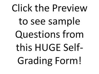 Huge Biology Self-grading Test: 126 Questions in All