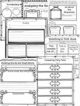 Common Core Reader's Response Graphic Organizers by Two