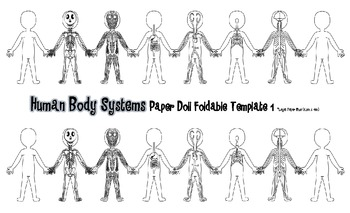 Human Body Systems Student Book & Paper Doll Foldable + 5