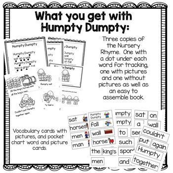Humpty Dumpty Nursery Rhyme Activities by 180 Days of