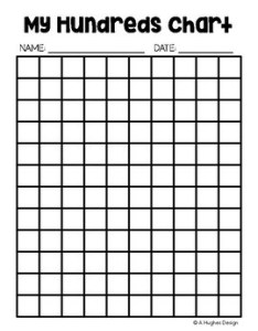 Free hundreds chart printables and  hughes design also tpt rh teacherspayteachers