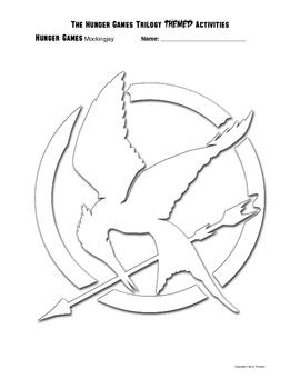 Free Hunger Games Mockingjay Halloween Pumpkin Template