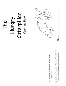 Hungry Caterpillar Counting Book Response to Carle with C