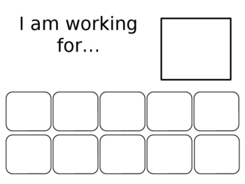 I Am Working For... behavior chart (editable) by The SpEd