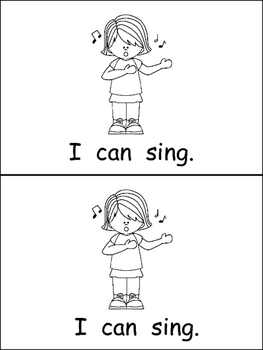 I Can Emergent Reader for Kindergarten- Level A by Melissa