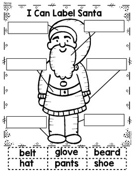 {I Can Label} Christmas Bundle Writing Workshop