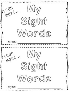 Sight Words: