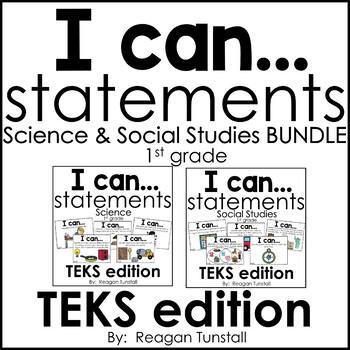 I Can Statements Science & Social Studies TEKS Bundle