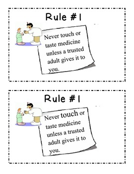 I Follow Medicine Safety Rules Booklet by Corey Funk