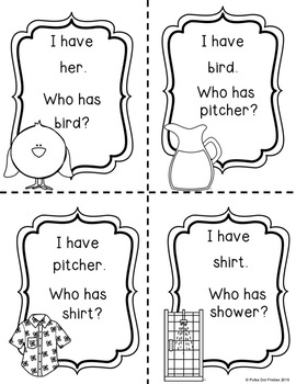 I Have, Who Has Game: R Controlled Vowels {Bundle} by
