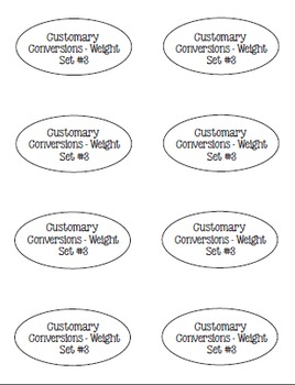 I Have, Whoooo Has? Customary Conversions for Volume