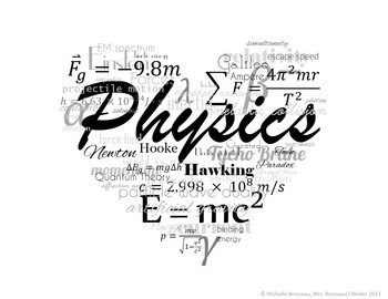 I LOVE Physics! FREE Poster, Logo, Title Page Graphic! by