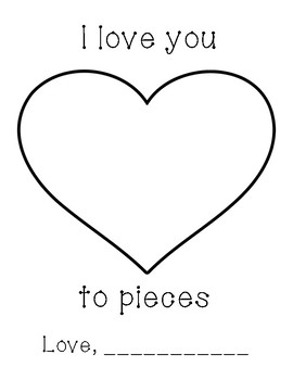 I Love You to Pieces Art Template by Love for the Littles