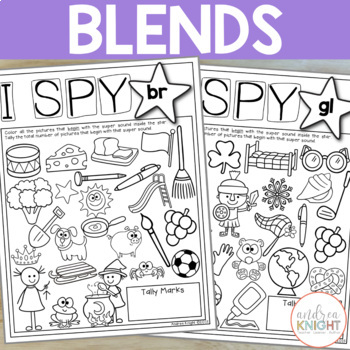 Phonics Worksheets for K-1 (I Spy Super Sounds!) by Andrea