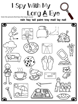 I Spy With My Long Vowel Eye Worksheets by Learning
