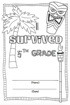 *I Survived 5th Grade* End of Year Memory Book for Big