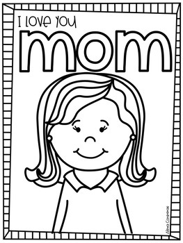 I love you Mom! {Mothers' Day FREEBIE in English and