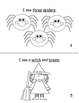 I see Halloween decodable reader by Primary Princess Place