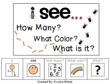I see...How Many? Color? What? Insect Adapted Book BUGS