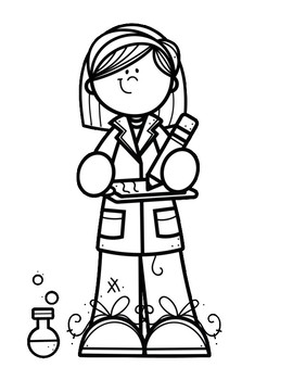 I want to be a...STEM Coloring Pages by Year Round