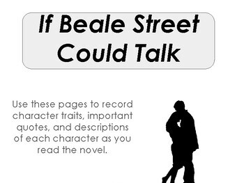 IF BEALE STREET COULD TALK Character Guide by Teach Active