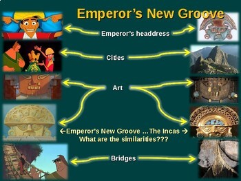 INCA  Emperors New Groove  teach Inca history with the movie