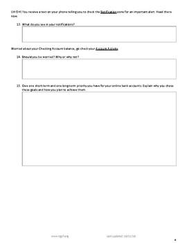 Interactive Navigate Your Online Bank Account Short Version Tpt