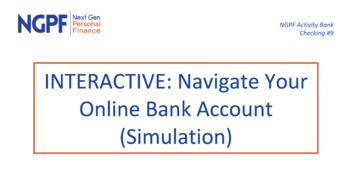 Interactive Navigate Your Online Bank Account Extended Version