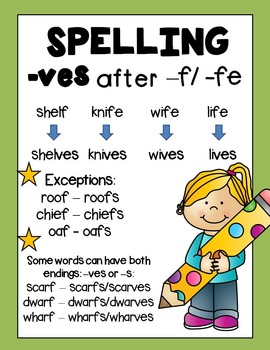 Irregular Plural Nouns -ves by Rock Paper Scissors   TpT