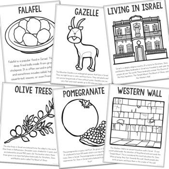 ISRAEL Country Study Mini Book, Coloring Pages, Activities