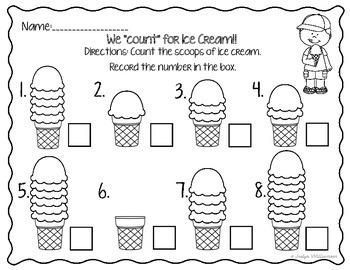 Ice Cream, Ice Cream, We all Scream for Ice Cream- Math