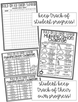 Ice Cream Multiplication Challenge {EDITABLE} by
