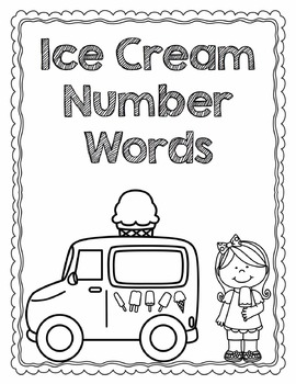Ice Cream Numeral Match File Folder Game by True Teaching