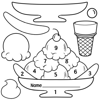 Ice Cream Scoops and Sundae Patterns by Digital Classroom