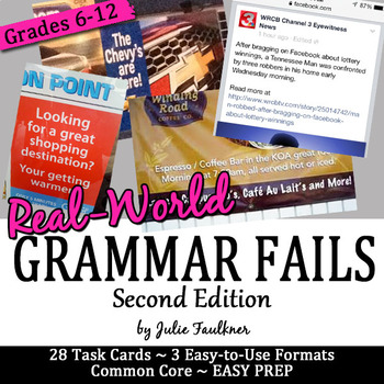 Grammar Fails from Real World, Bell Ringers Proofreading,