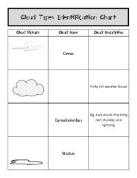 Identifying Cloud Types Worksheet- Chart by Fumbling Thru ...