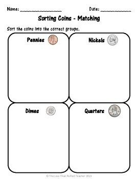 Identifying Coins File Folder Activities by Teaching to
