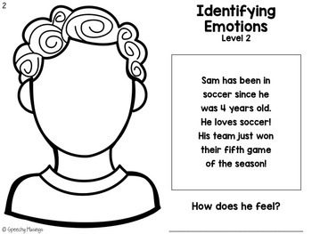 Identifying Emotions for Speech Therapy: Worksheets + an