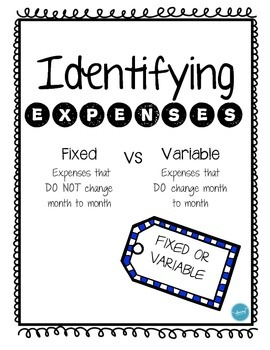 Identifying Expenses (Fixed or Variable) by Mustard Seed